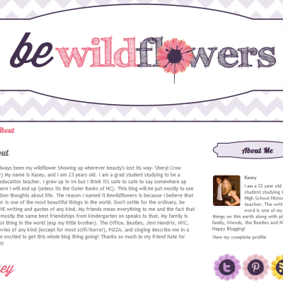 Be Wildflowers