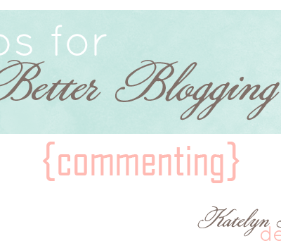 New Feature: Tips for Better Blogging