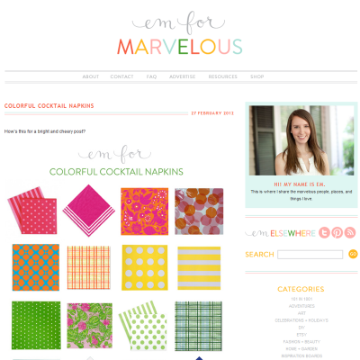 Design Inspiration: Em for Marvelous