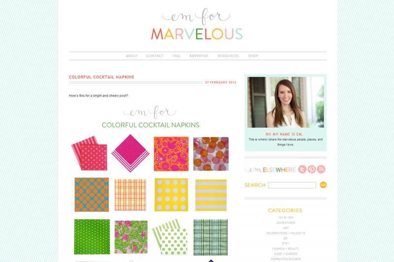 Design Inspiration: Em for Marvelous