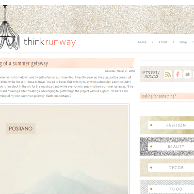 Design Inspiration: Think Runway