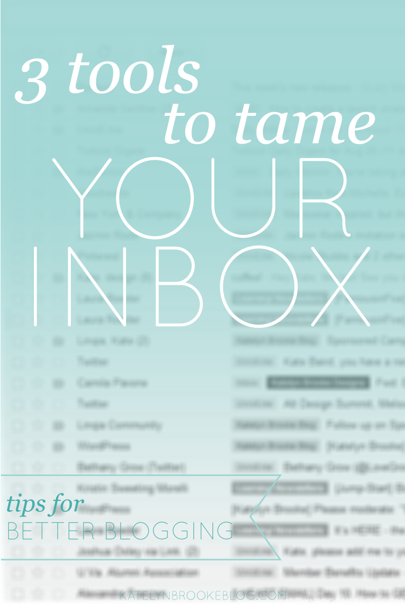 3 tools to tame your inbox