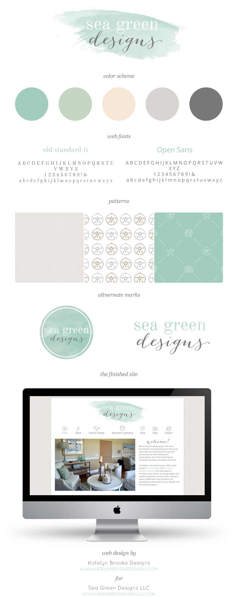 custom branding + web design for Sea Green Designs