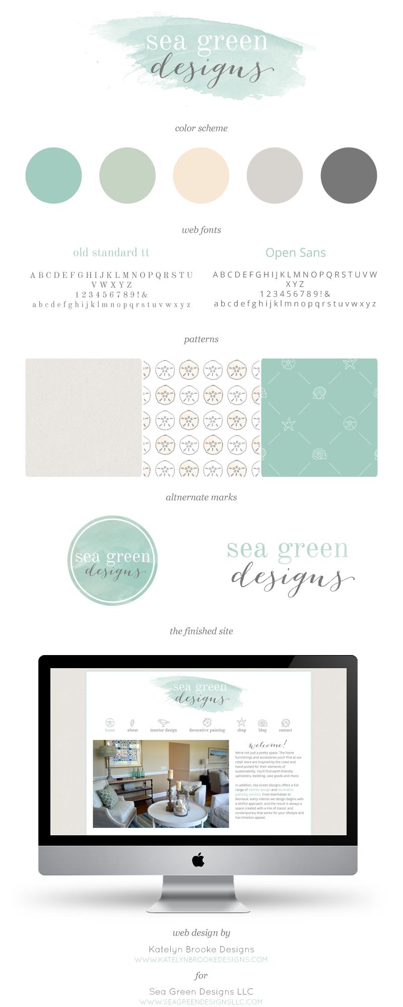 custom branding + web design for Sea Green Designs