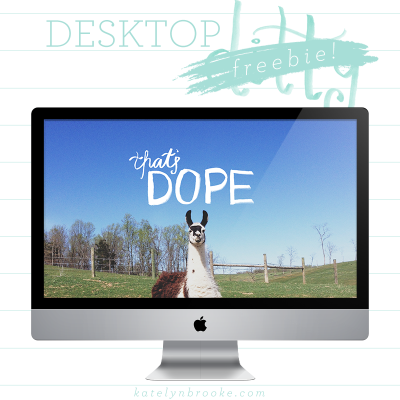 Desktop Freebie: That's Dope