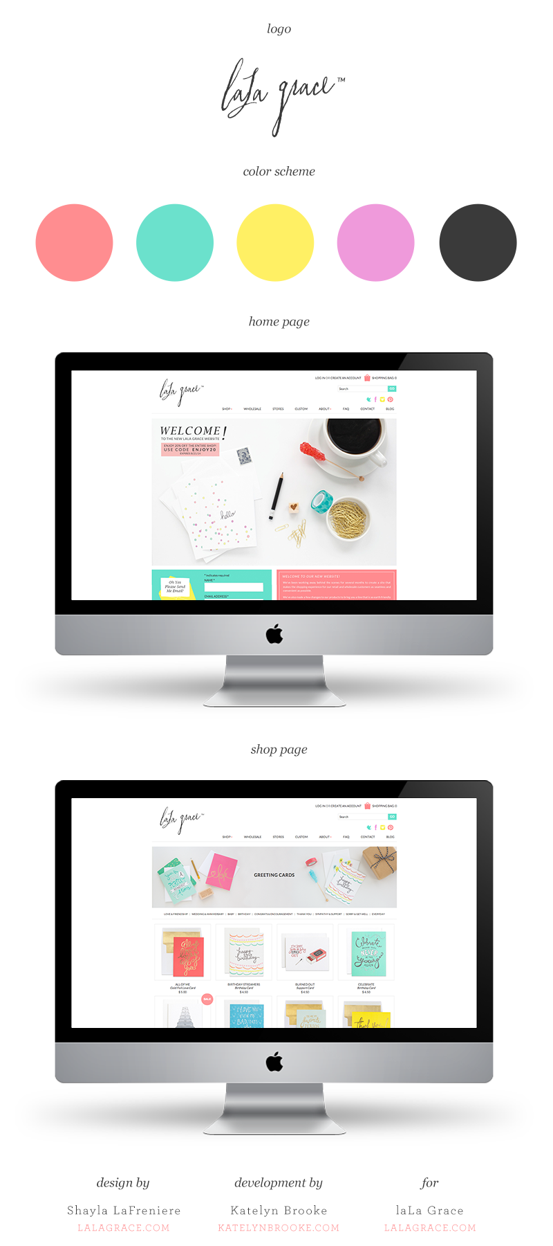 laLa Grace website, designed by Shayla LaFreniere with web development by Katelyn Brooke || katelynbrooke.com