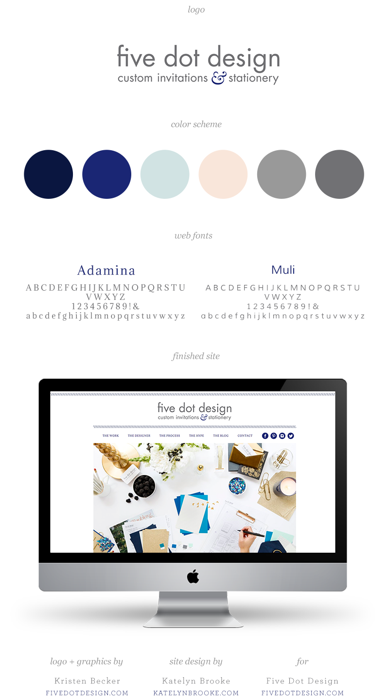 Five Dot Design website by Katelyn Brooke || katelynbrooke.com