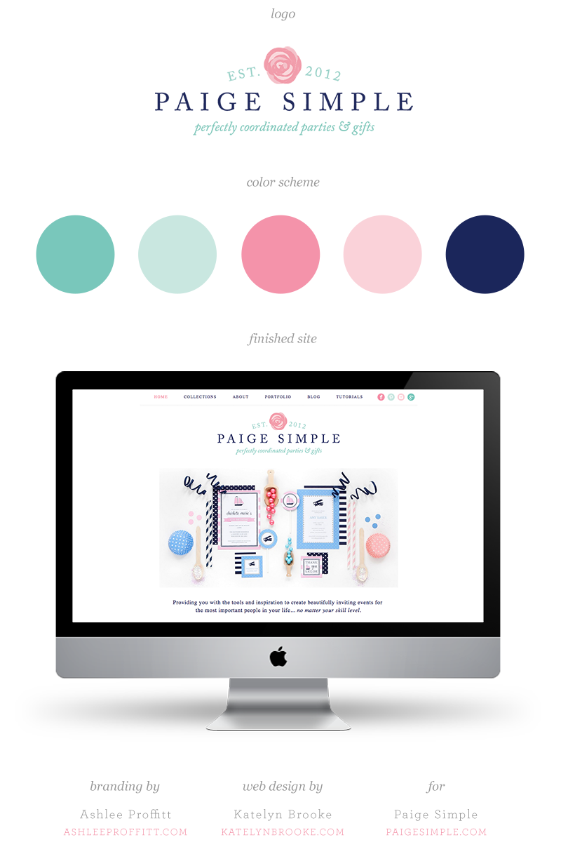 Paige Simple website, designed by Katelyn Brooke with branding by Ashlee Proffitt || katelynbrooke.com