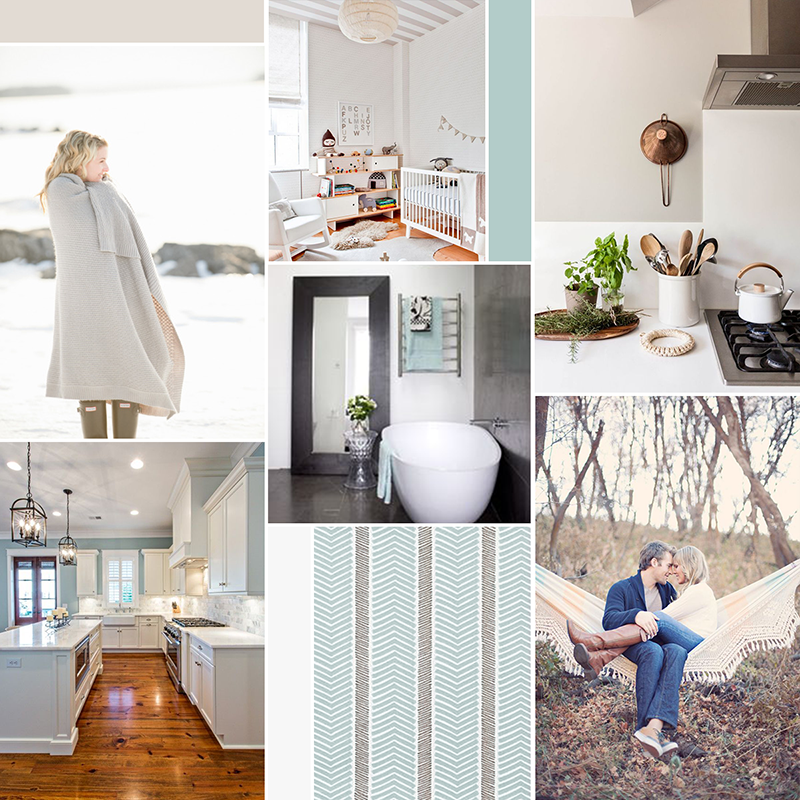 Clean and cozy moodboard (see post for image sources) || katelynbrooke.com