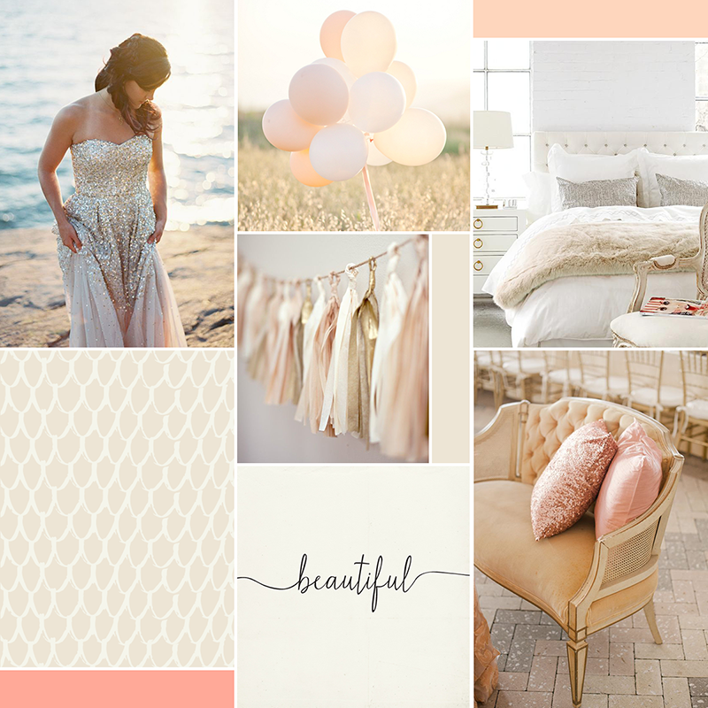Soft and glam moodboard || katelynbrooke.com