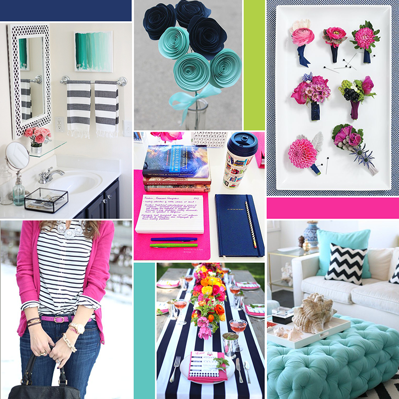 Preppy and bright moodboard (see post for image sources) || katelynbrooke.com