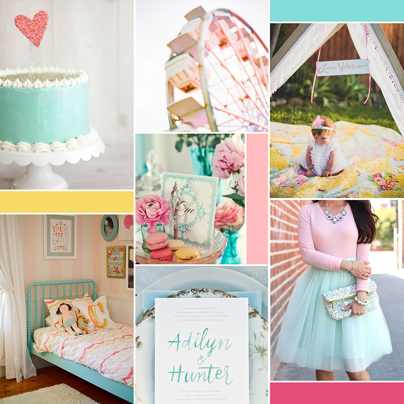 Happy and whimsical moodboard (see post for image sources) || katelynbrooke.com