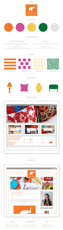 Website and blog design for Effortless Style by Katelyn Brooke, logo design by Green Tie Studio    katelynbrooke.com