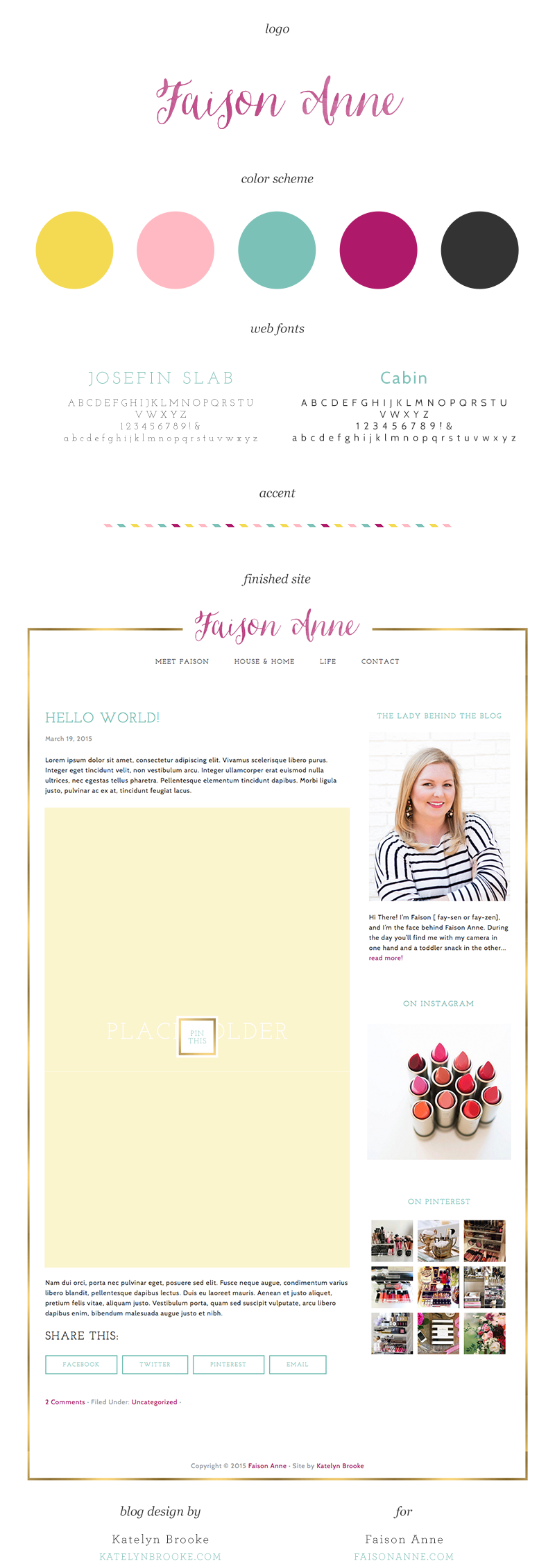 Blog design for Faison Anne by Katelyn Brooke || katelynbrooke.com