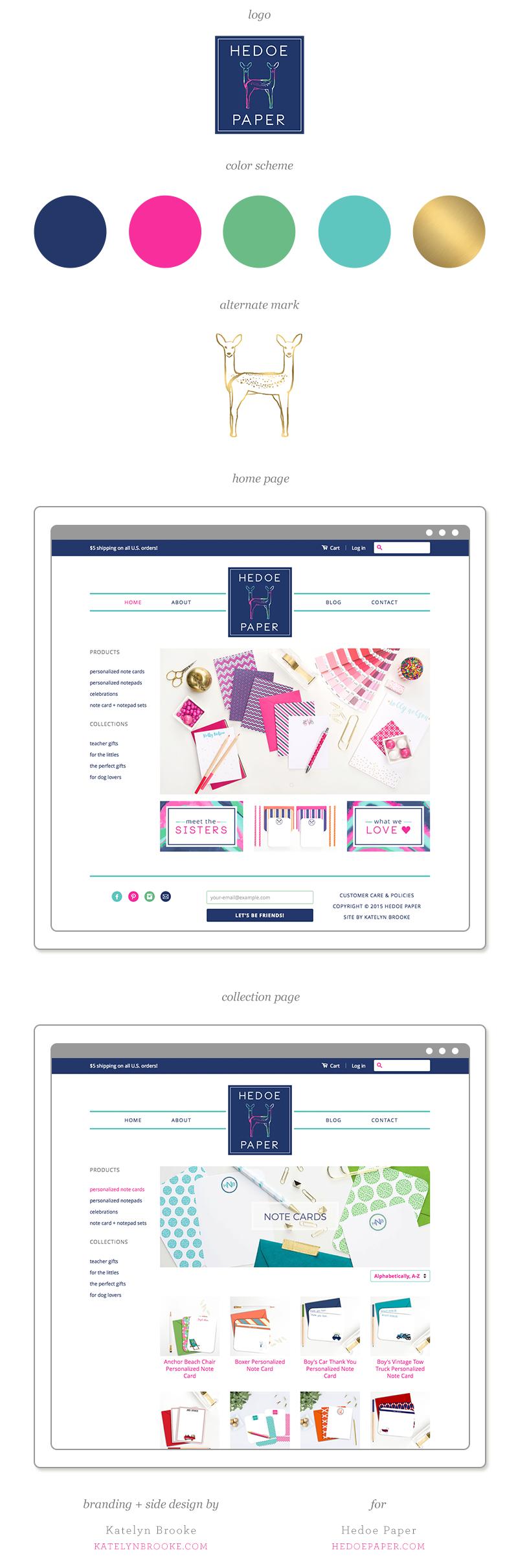Branding and site design for Hedoe Paper by Katelyn Brooke || katelynbrooke.com