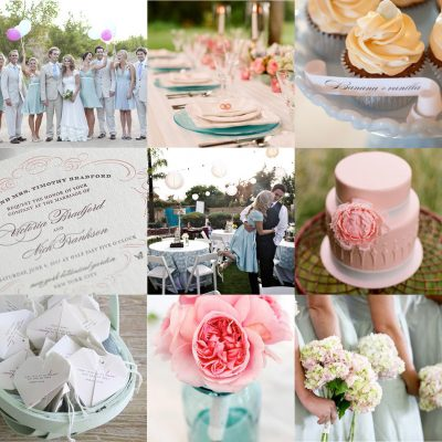 Wedding Wednesday: Pink and Blue
