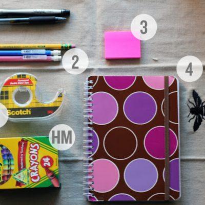 Top 5 Tuesday: School Supplies