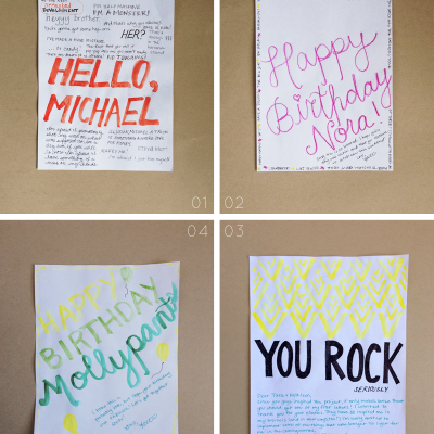 Lettered Letters 01-04